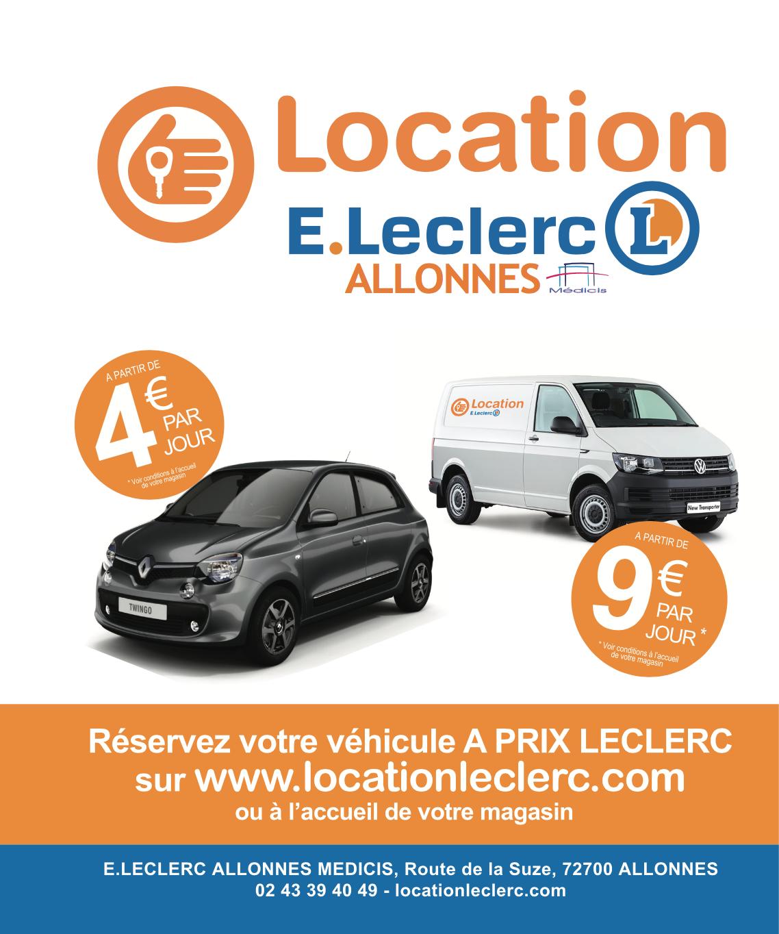 Location Voiture E. Leclerc Allonnes